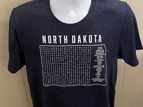 Adult ND Word Search Shirt