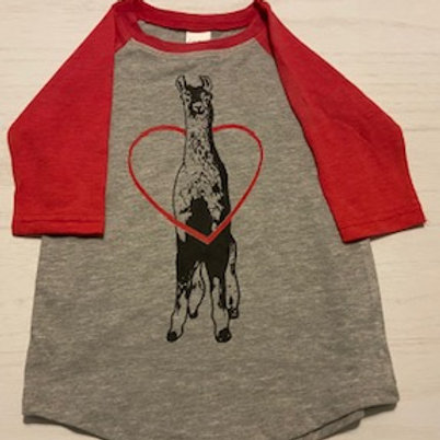 Alpaca/Llama 3/4 sleeve T-shirt for Toddlers, Youth and Adults