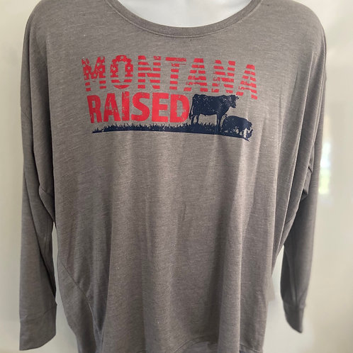 Montana Raised Long Sleeve Ladies T-Shirt