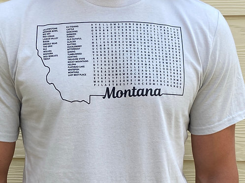 Youth Montana Word Search Shirt
