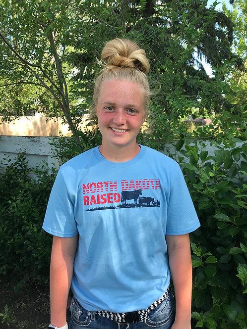 North Dakota Raised Adult T-Shirt