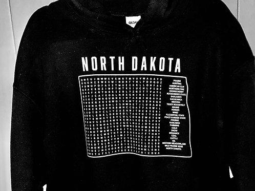 ND word search sweatshirt