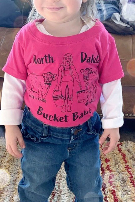 North Dakota Bucket Babe for toddlers and youth