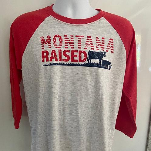 3/4 Sleeve Montana Raised T-Shirt