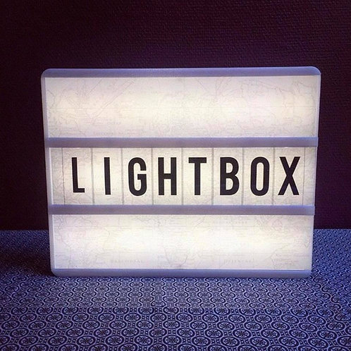 Light Box Lettering Display (104 black letters n symbols)