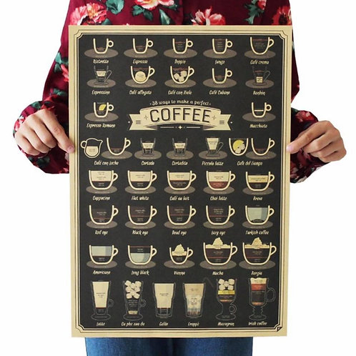 Coffee Art Poster (High quality print)