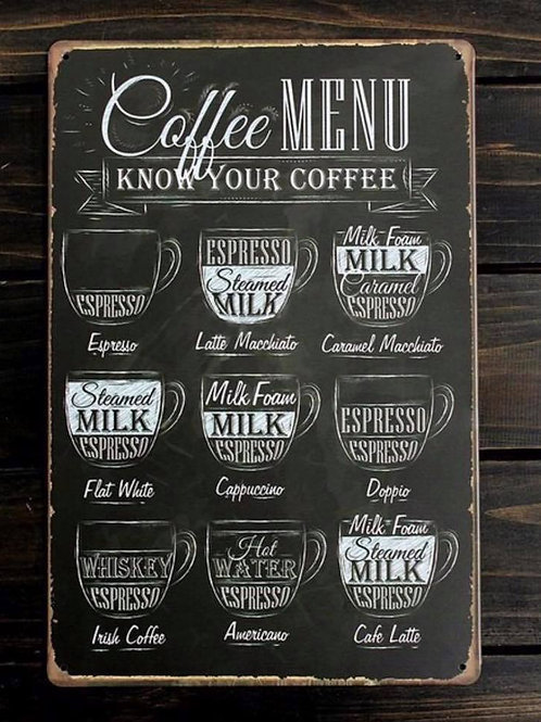 Cafe Kitchen Metal Poster (High quality print)