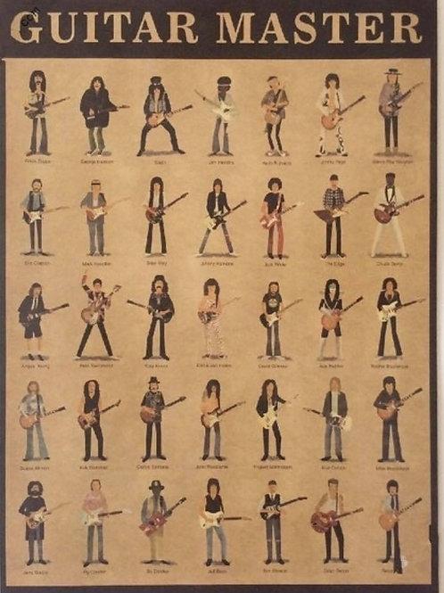 Guitar Legend Hero Poster (Kraft paper Quality print)