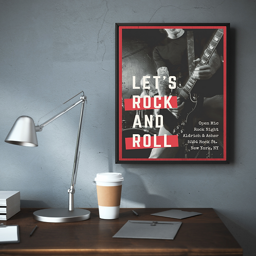 Rock Posters (High quality print + Frame)