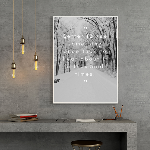 Motivational Posters (High quality print + Frame)