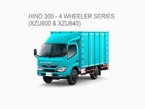NEW HINO 300 -4 WHEELER SERIES (XZU600 & XZU640)