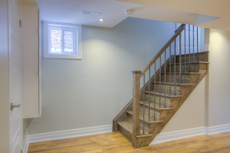 Basement Oak Staircase