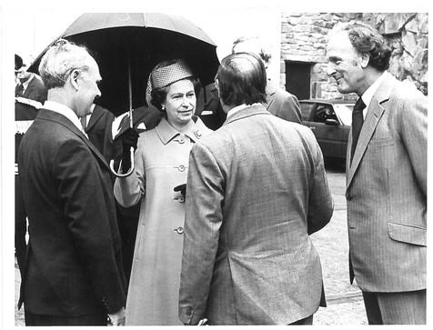 Queen Elizabeth II with Ralph Colwyn Foulkes