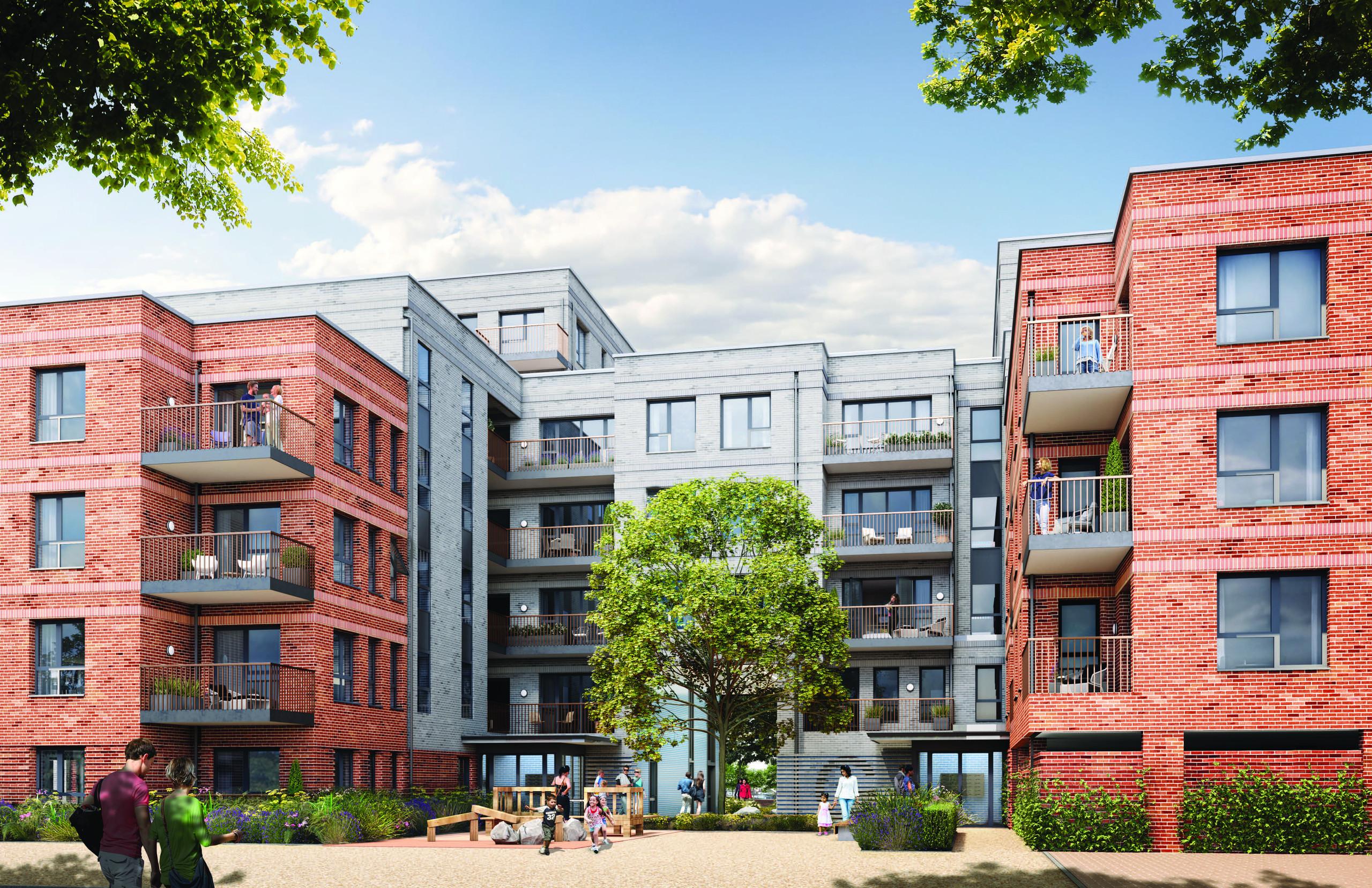 CGI of Hounslow West, Bath Road, Hounslow Social Housing