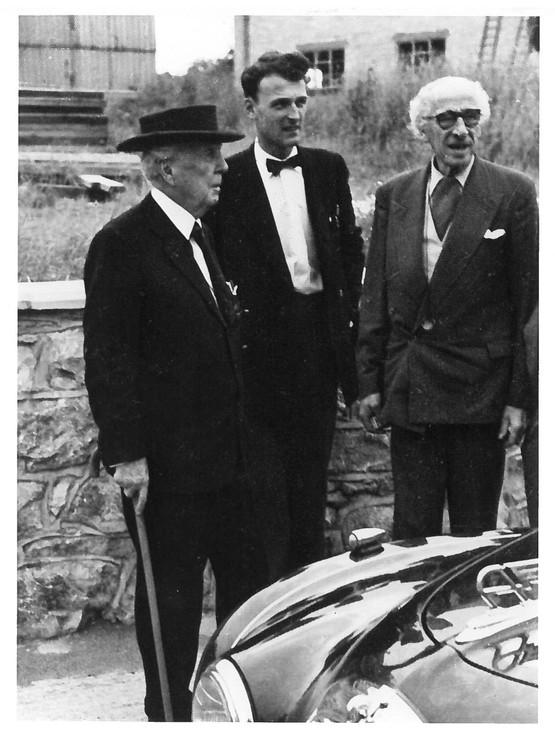 Frank Lloyd Wright with Ralph Colwyn Foulkes