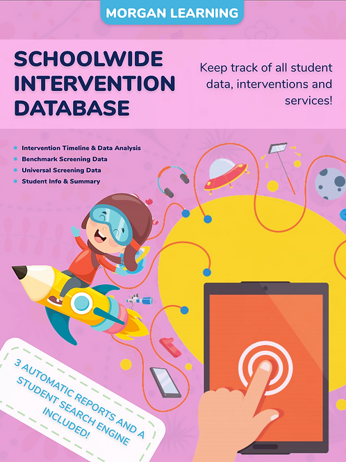 Student Intervention Database with 3 Automatic Reports