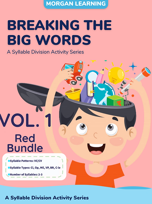 Volume 1 - Breaking the Big Words: Syllable Division Sets 1-7 (VC/CV)