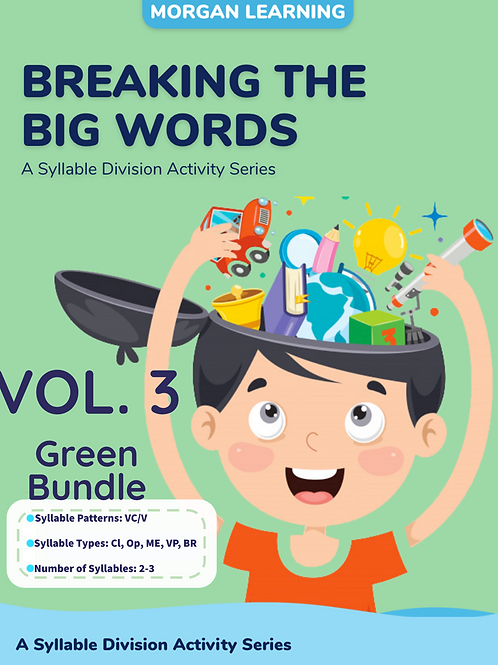 Volume 3 - Breaking the Big Words: Syllable Division Sets 14-18 (VC/V)