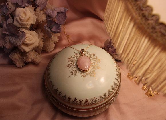 Collier Renaissance en Quartz Rose