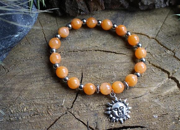 """Bracelet """"Soleil"""" en Calcite"""