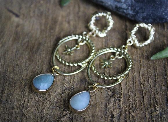 """Boucles d'oreilles """"Astrid"""" en Amazonite"""
