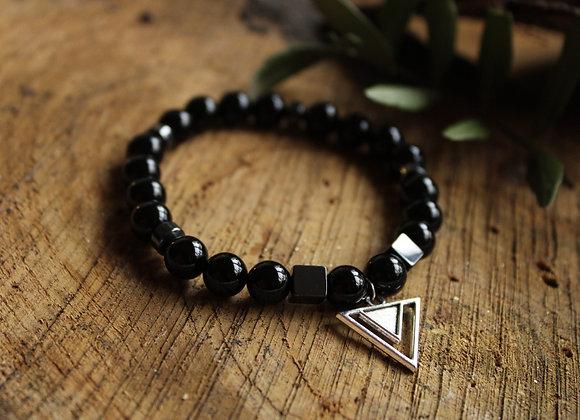 Bracelet Puissance en Tourmaline noire