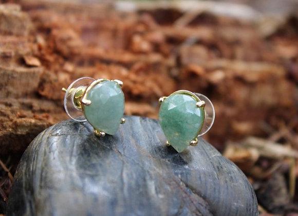 Boucles d'oreilles en Fluorite