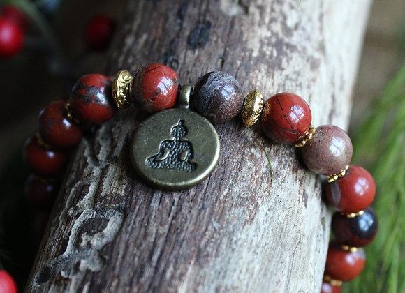 Bracelet Jaspe Rouge Bouddha