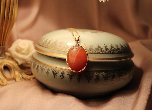 Collier Renaissance en Agate Rouge