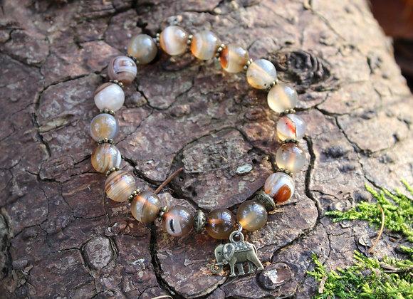 Bracelet Agate du Botswana