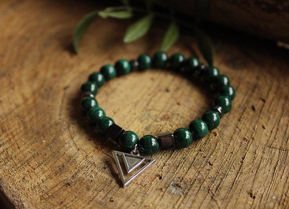 Bracelet Puissance en Malachite