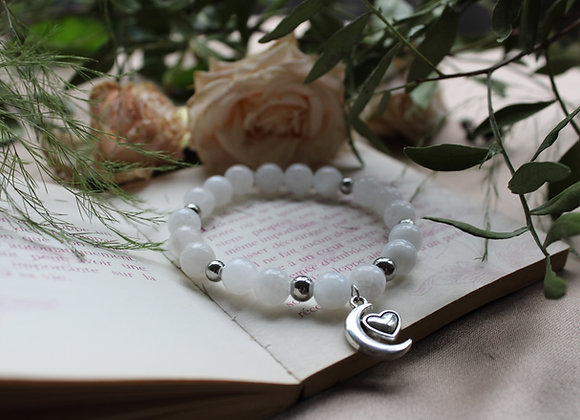 "Bracelet ""Amour"" en Pierre de Lune"