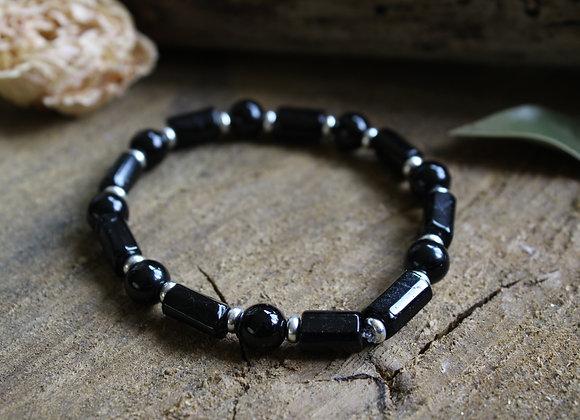 """Bracelet """"Atlante"""" en Tourmaline noire"""