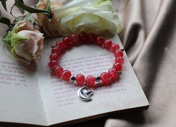 """Bracelet """"Passion"""" en Rhodochrosite"""