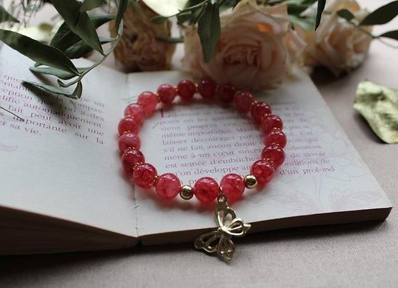 "Bracelet ""Papillon"" en Rhodochrosite"