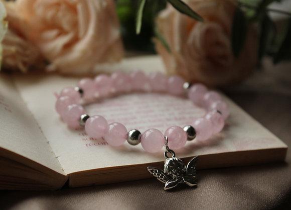 """Bracelet """"Cupidon"""" en Quartz Rose"""