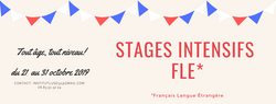 Stage intensifs toussaint 2019 - FLE