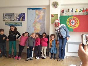 Noël 2014 avec les babys à l'Institut Lusophone