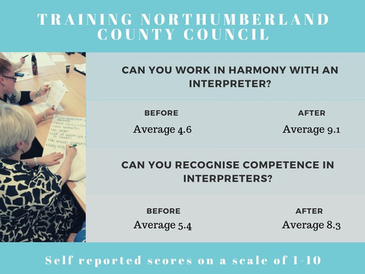 Working with interpreters: a half day course.