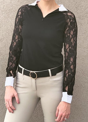 Evelyn Lace Long Sleeve Show Shirt