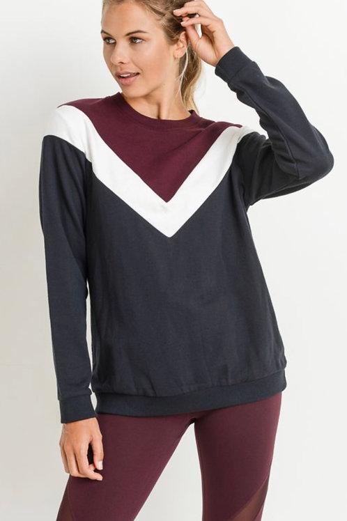 Mono B Vintage Chevron Sweater