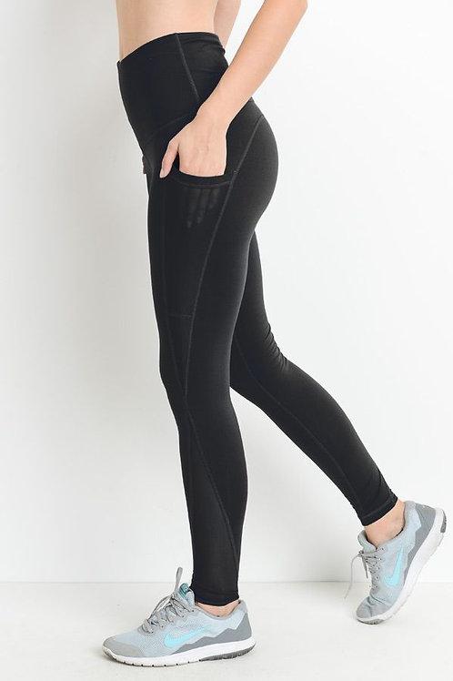 Black Mono B Splice Mesh Pocket Legging