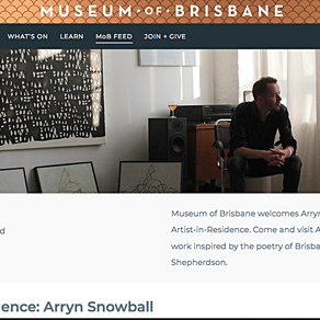 Artist in residence at Museum of Brisbane