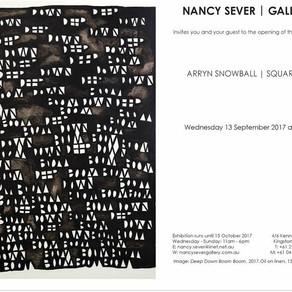 Square Sun, Nancy Sever Gallery, exhibition invitation