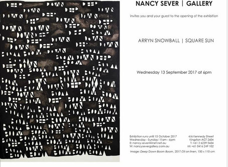 Square Sun, Nancy Sever Gallery, exhibition invitation