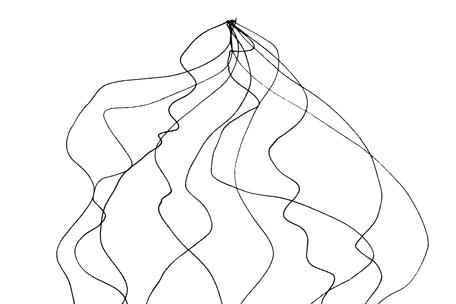 Falling line drawing crop