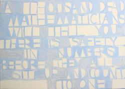 Blue poem paintings