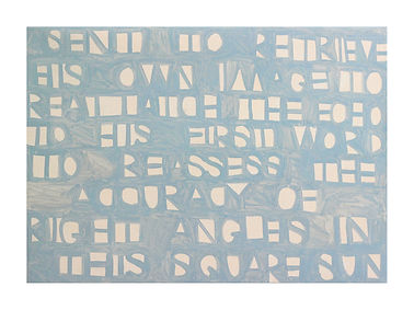 blue poem painting by arryn snowball | text by nathan shepherdson