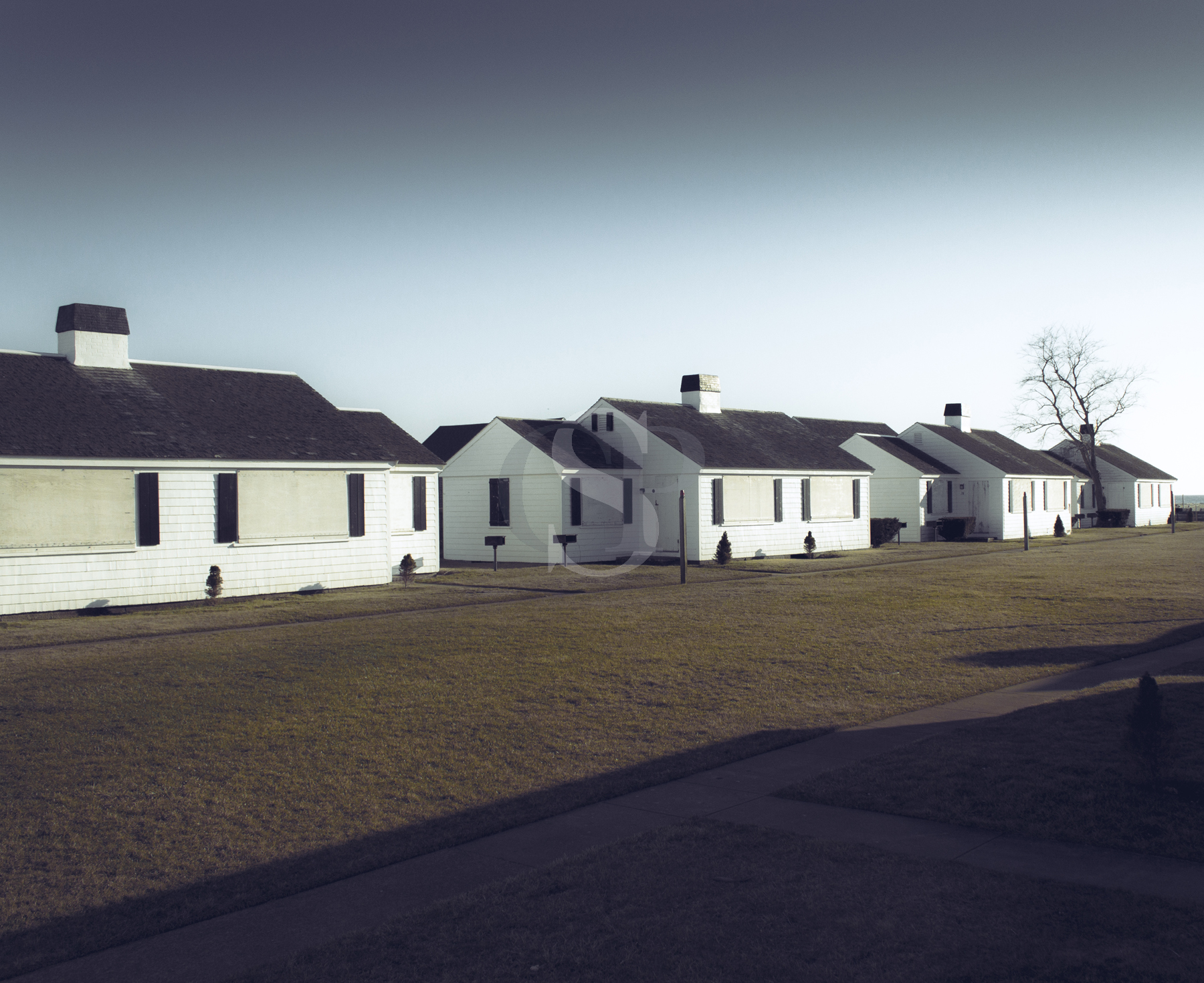 Row Of White Houses