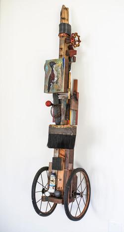 """Woodpecker, 9""""x46"""", $1800"""